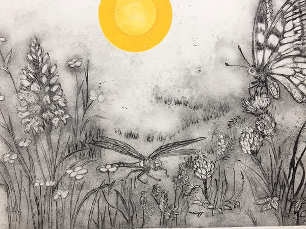 'Under the Sun' 2 plate copper etching [