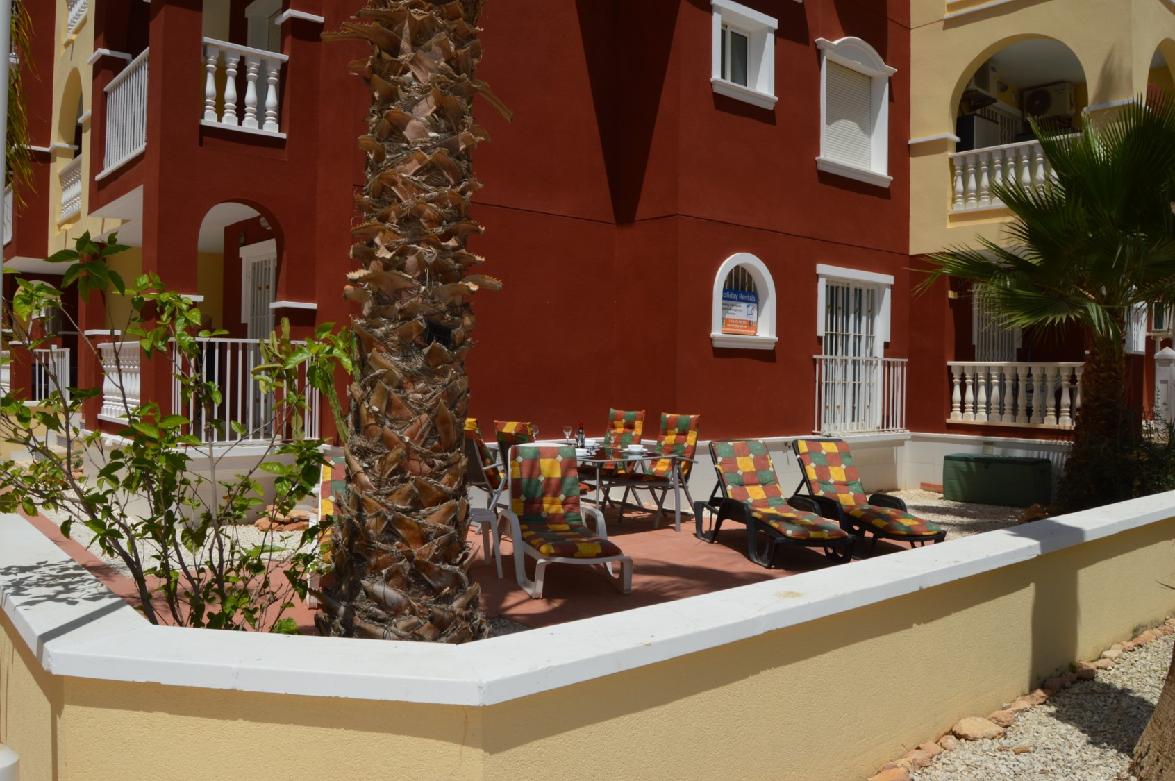 Large outdoor terrace