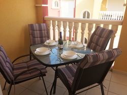 Downstairs terrace
