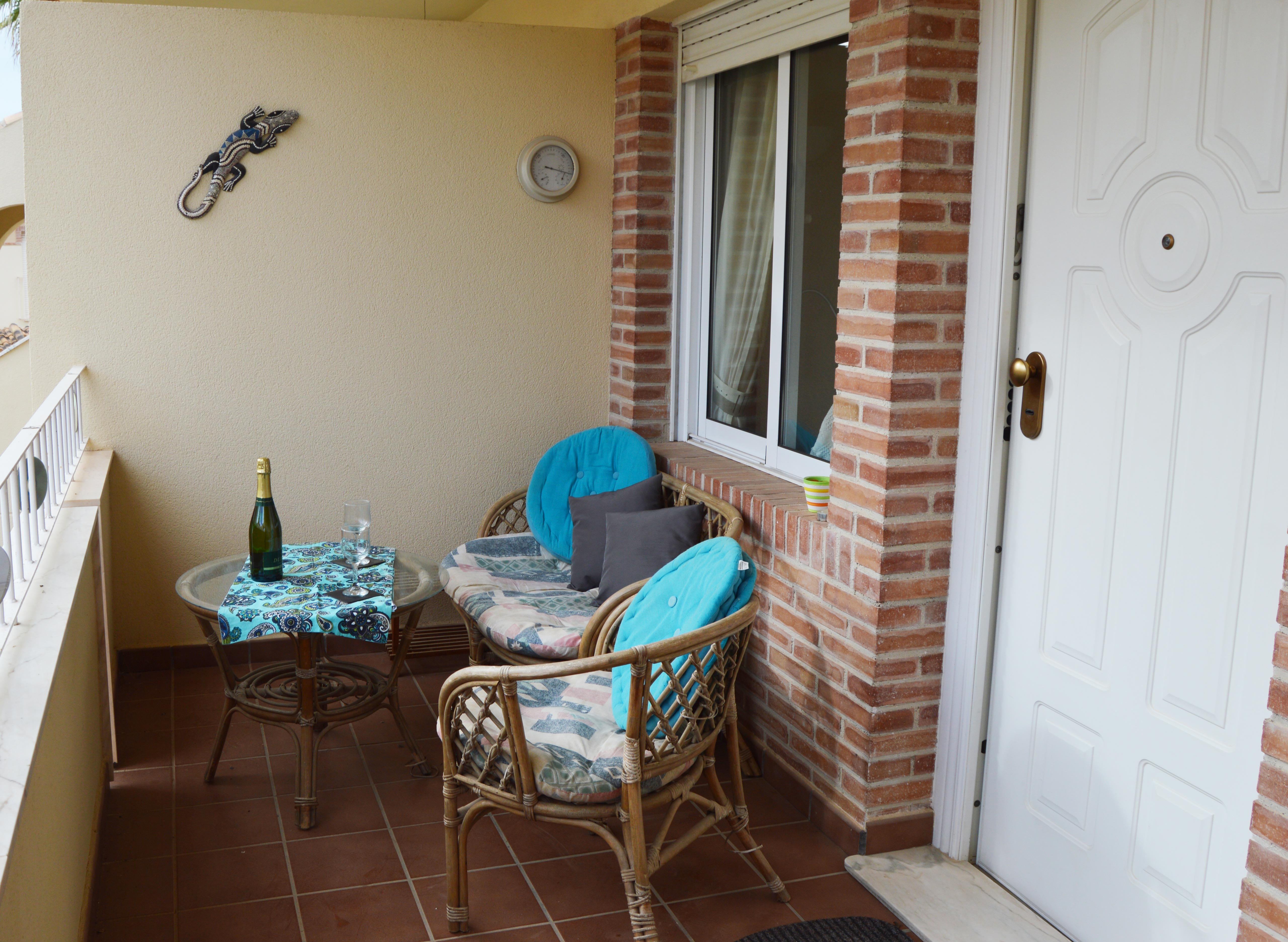 Downstairs front terrace