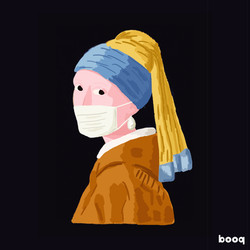 Girl with a pearl earring - booq-mask-01