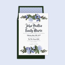 Blue flower wedding