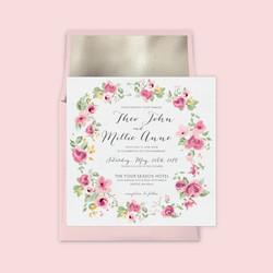 Rose wreath wedding