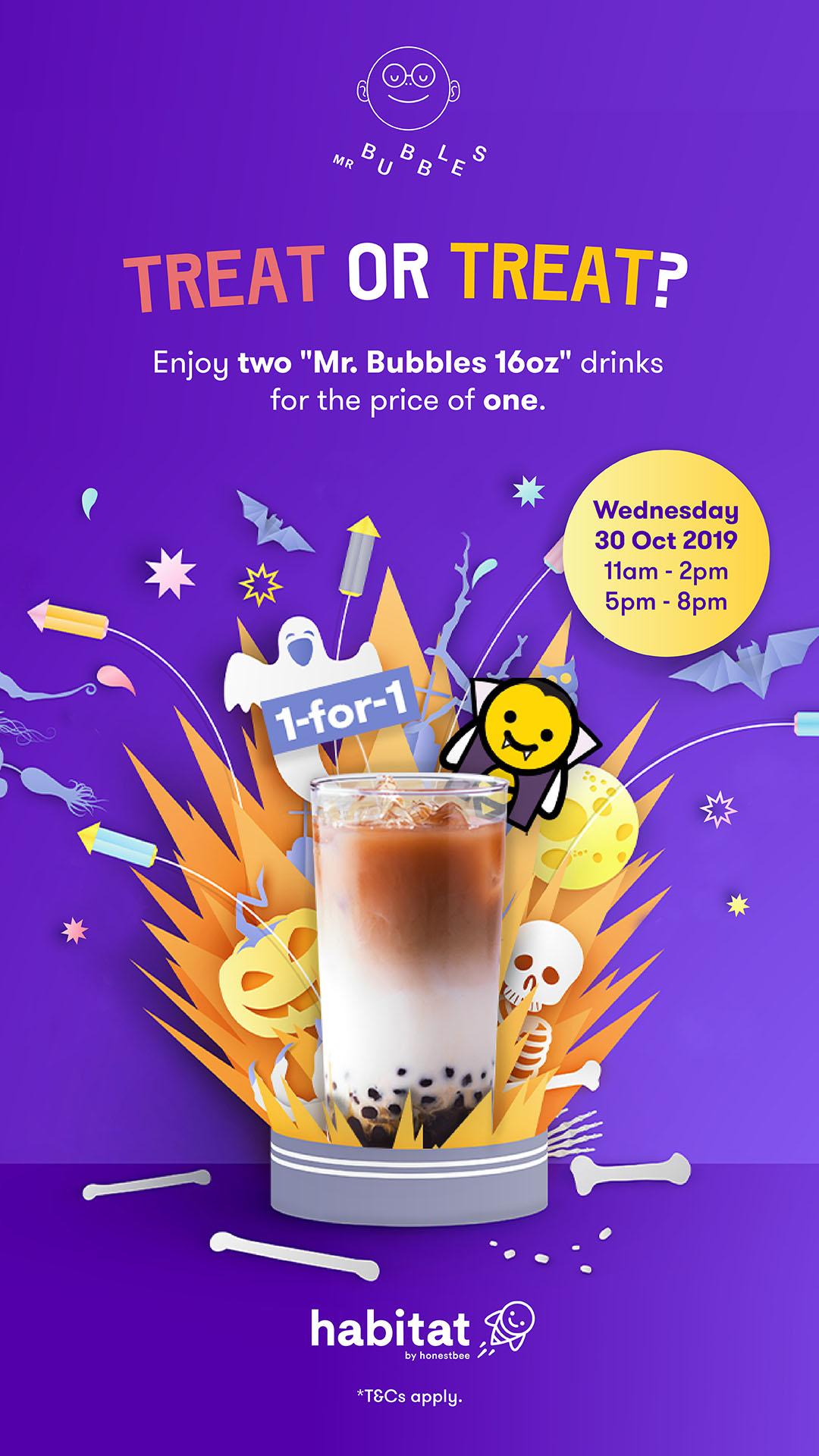 Mr Bubbles Halloween Promotion