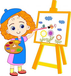 painting_girl_drawing_colored_cartoon_cu