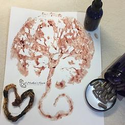 Placenta Capsules, Print, Tincture