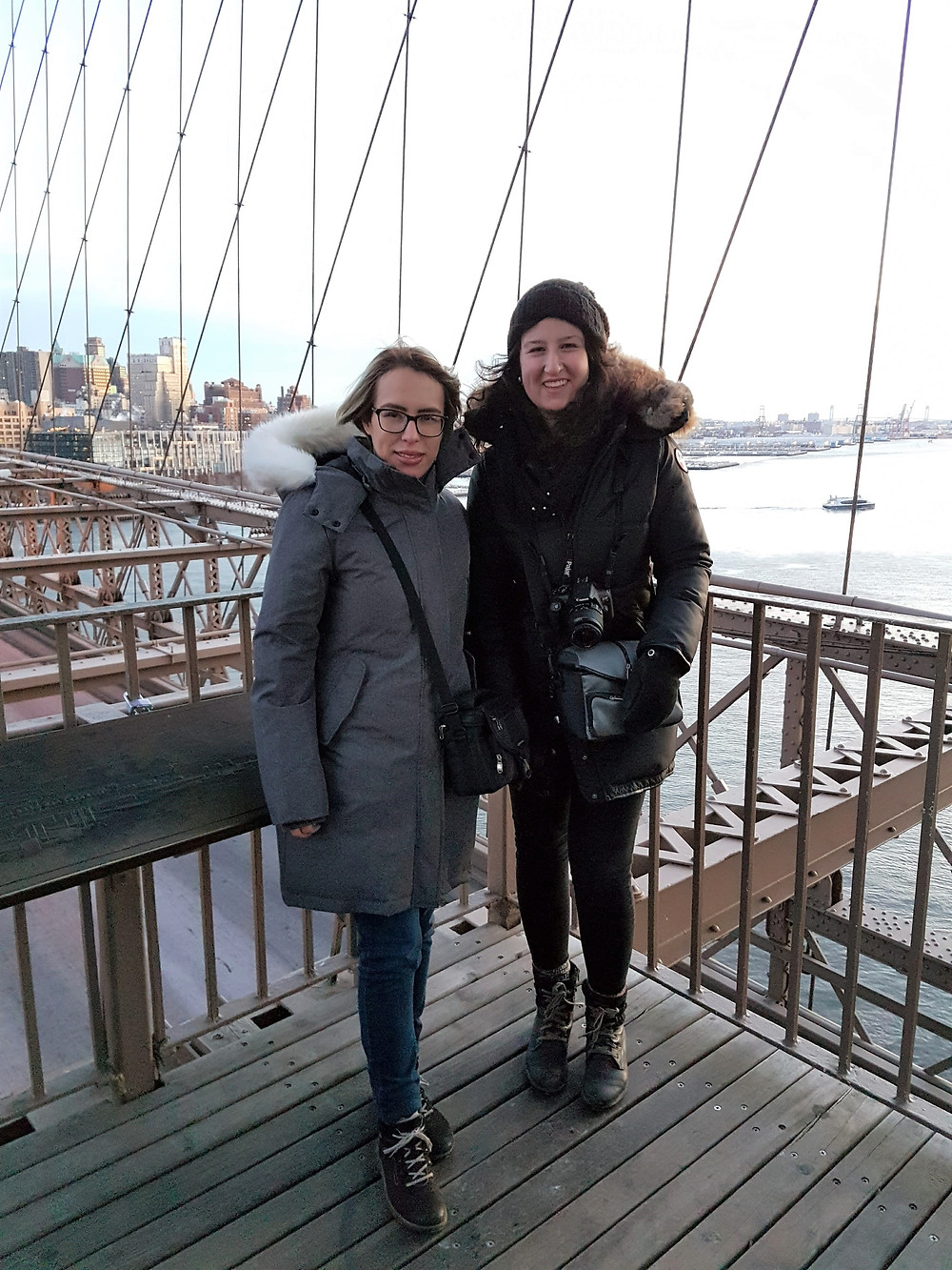 Brooklyn Bridge: Marian and I