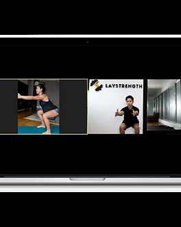 Virtual Personal Training Laptop Mockup.