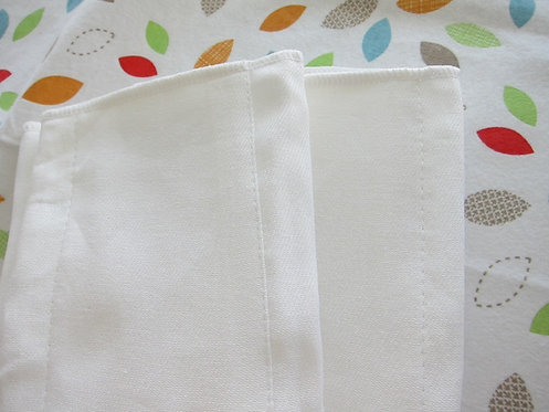 12 x Certified Organic Cotton Twill Prefold Diaper