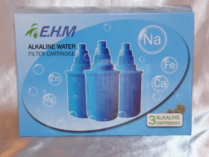 EHM Alkaline Water Pitcher Filters (Set of 3)