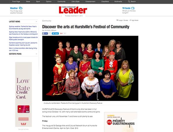The Leader: Women's choir Hurstville