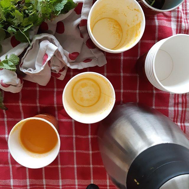 Warme soep tijdens winterse workshop