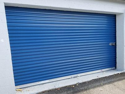Mini warehouse door installation in Hickoy, NC