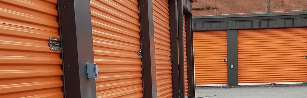 Mini warehouse door repair in Hickory, NC.