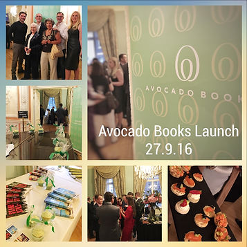 book launch event held by independent publisher for new writers Avocado Books