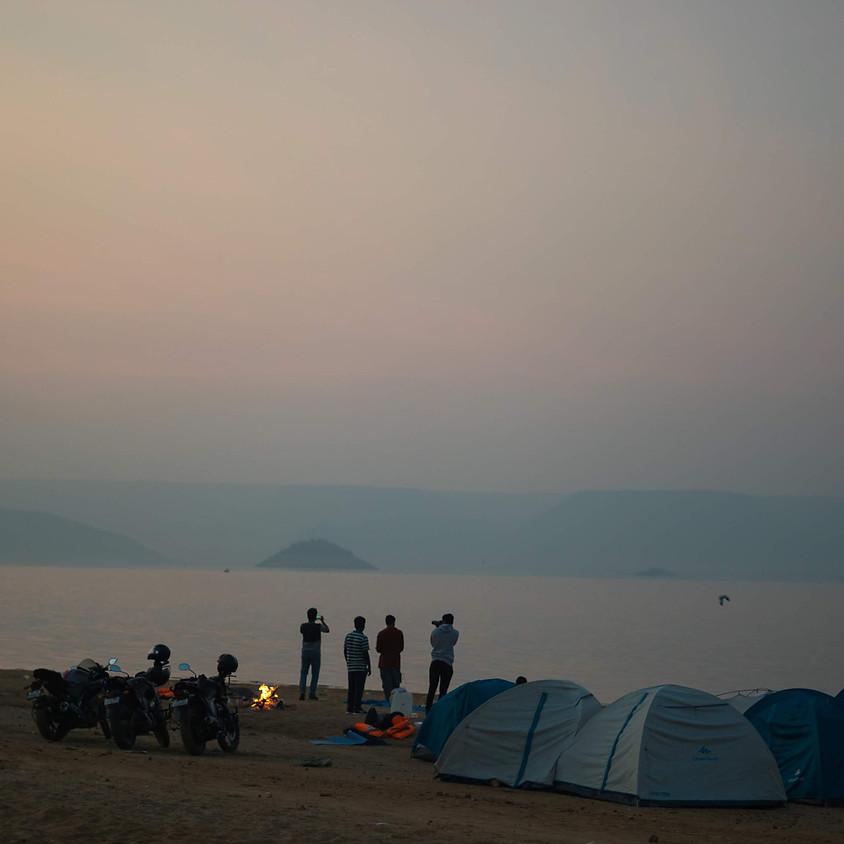 Night Camping on Backwaters of Nagarjuna Sagar