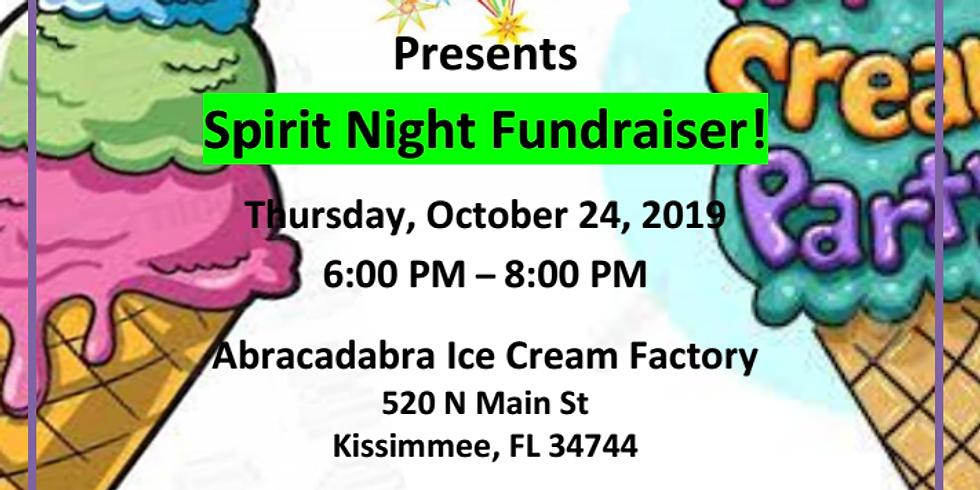 AVOS 1st Spirit night fundraiser