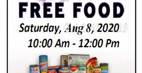Our Next Pantry Day. Come join us. Free Food for Everyone.