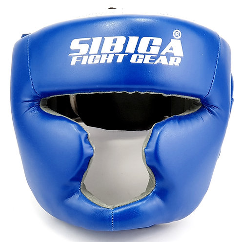 Synthetic Leather Headguard-Blue