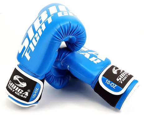 Syntetic Leather Boxing Gloves-Blue