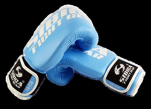 Leather Thai Boxing Gloves-Light Blue