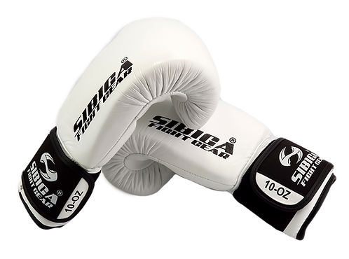 Leather Boxing Gloves-White