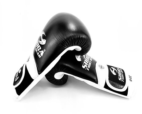 Leather Long Wrist Boxing Gloves