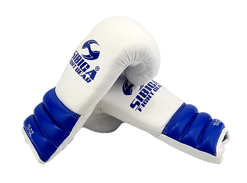 Premium Leather Boxing Gloves White/Blue
