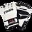 Thumbnail: 7oz Leather MMA Semi Pro Gloves-White