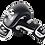 Thumbnail: Premium Leather Boxing Gloves Thai Model-Black/White