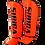 Thumbnail: Synthetic Leather Shin Guards-Bright Orange