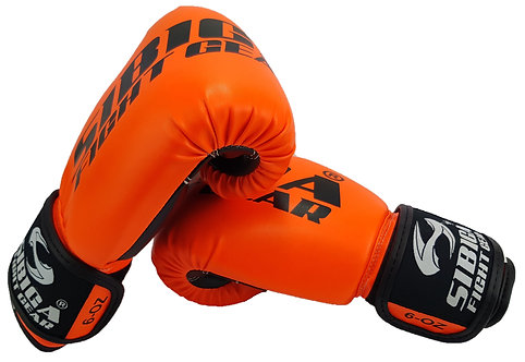 Synthetic Leather Fluorescent Orange Gloves