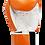 Thumbnail: Leather Boxing Gloves-Orange/White