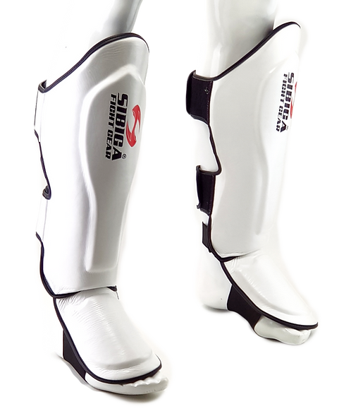 Leather Shin Guards-White