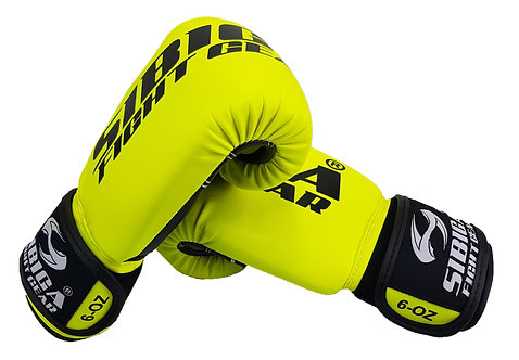 Synthetic Boxing Gloves-Bright Yellow