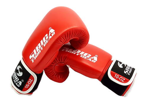 Leather Boxing Gloves-Red