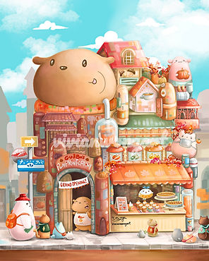 Cute Illustration Children's Book Fun Fantasy Colourful Painting vivian wong art gu and bu gu&bu