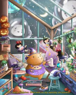 Gu&Bu's Spooky Art Studio