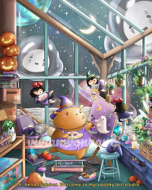 spooky art studio