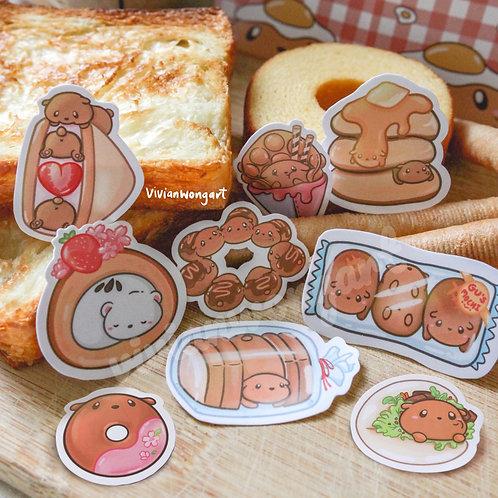 Gu's Bakery Sticker Pack