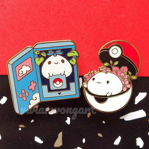 bibble and bu enamel pin set