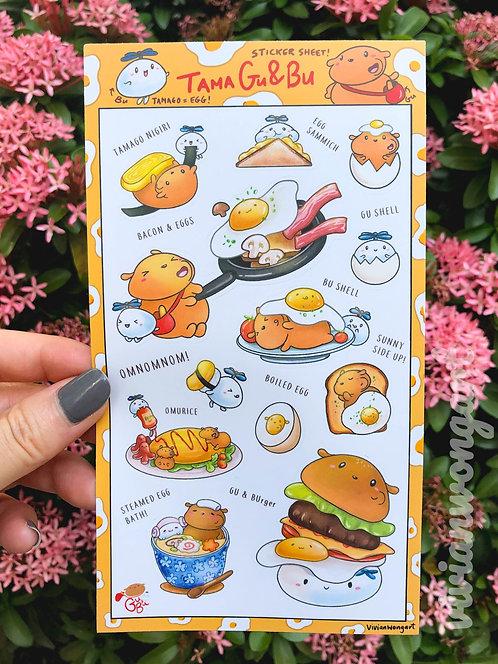 tamagu&bu egg - sticker sheet