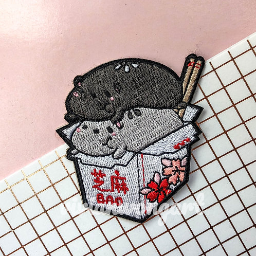jimu sesame buns embroidery patch