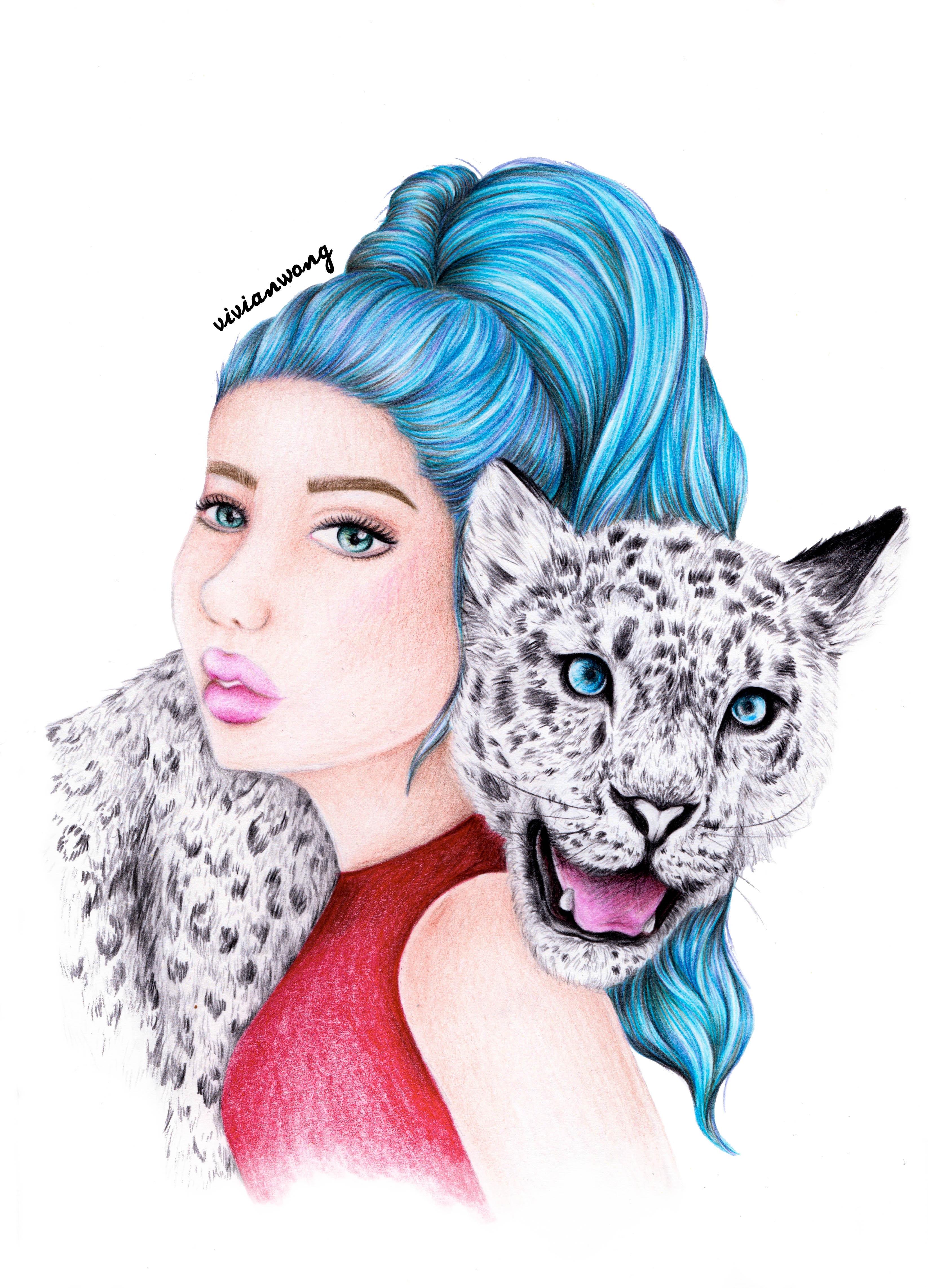 Snow Leopard Girl Scan