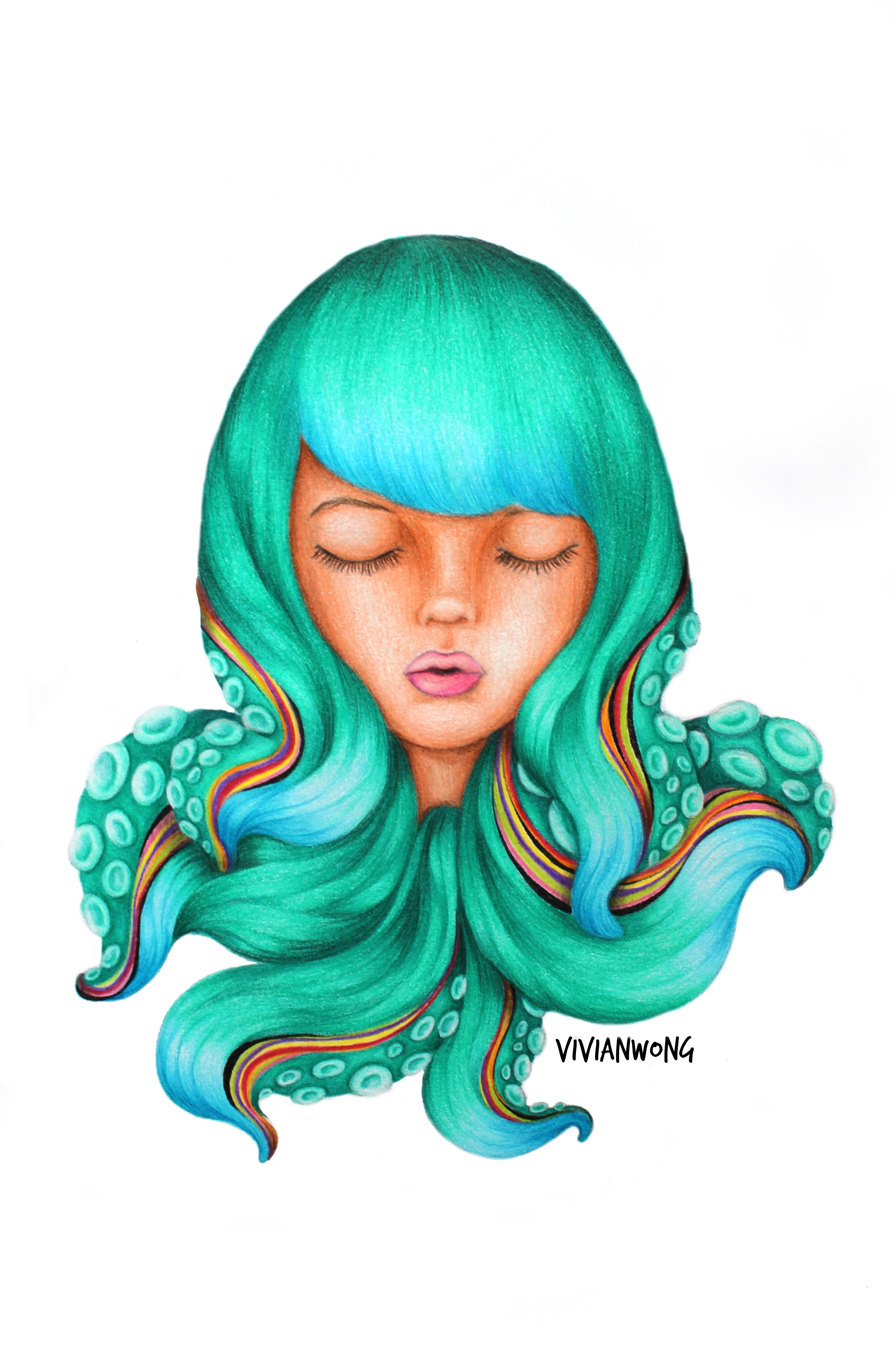 OCTOPUS HAIR GIRL S6