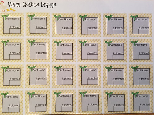 Planning Stickers- Repositionable