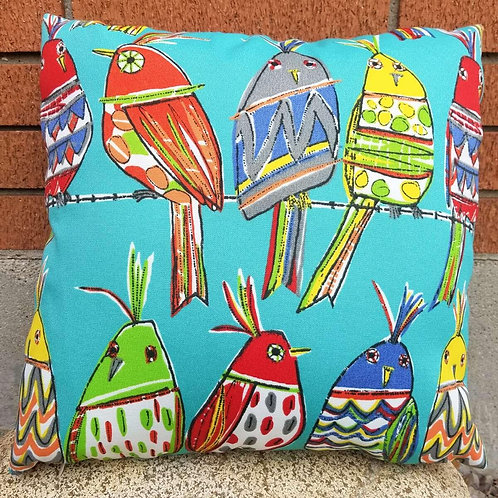 """18"""" Silly Birds Pillow Cover"""