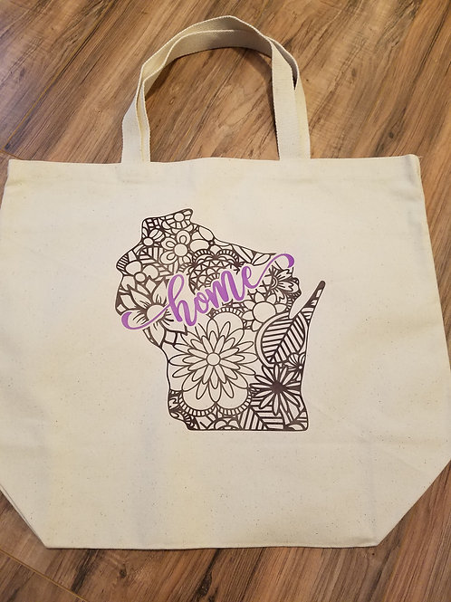 Home State Canvas Bag