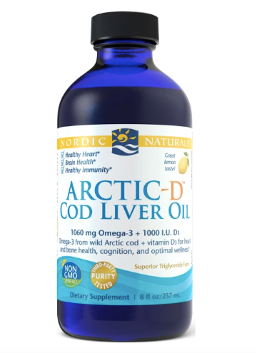 Nordic Naturals- Arctic-D Cod Liver Oil- 237ml (lemon)