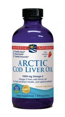 Nordic Naturals- Arctic Cod Liver Oil Liquid- 237ml (strawberry)